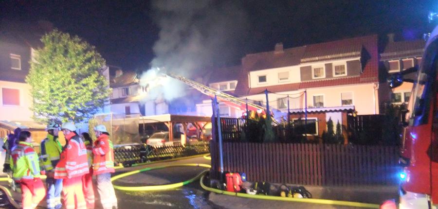 F2 Y – Menschenleben in Gefahr, Brennen zwei Dachstühle in Bad Orb