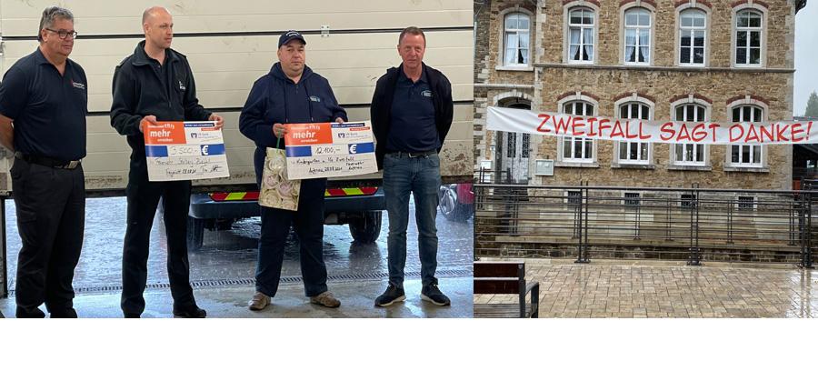 Spendenübergabe der Feuerwehr Aufenau  in Stolberg-Zweifall